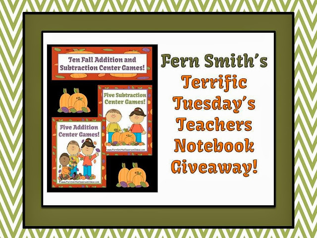 Picture of Fern Smith Terrific Tuesday's Teachers Notebook Giveaway!