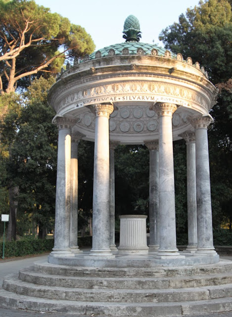 Temple of Diana at the Borghese park in Rome, Italy