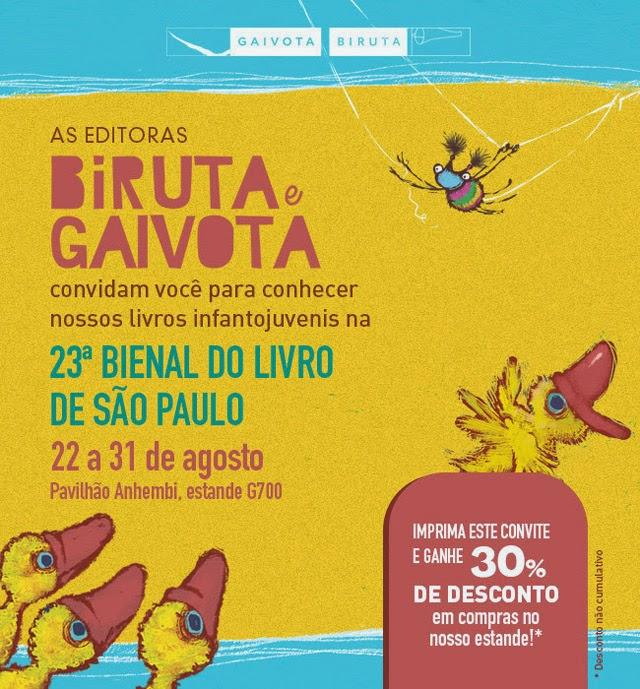 Programação da Bienal de São Paulo - Editora Biruta e Gaivota Cupom de Desconto