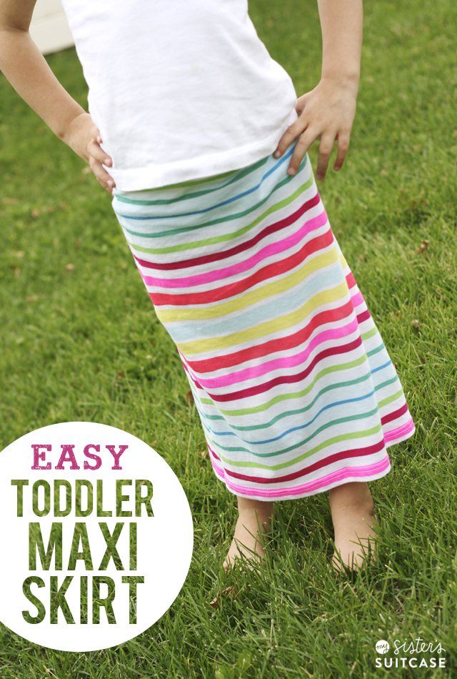 5 friday toddler maxi skirt from tank top tutorial