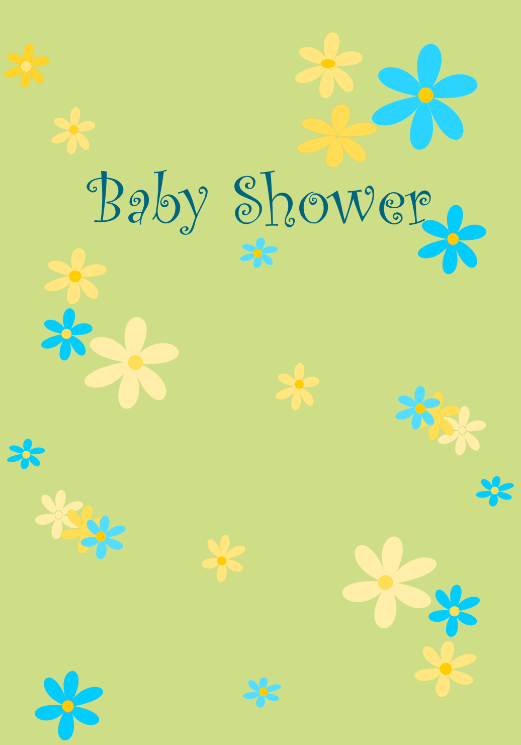 Nifty image throughout printable baby shower card
