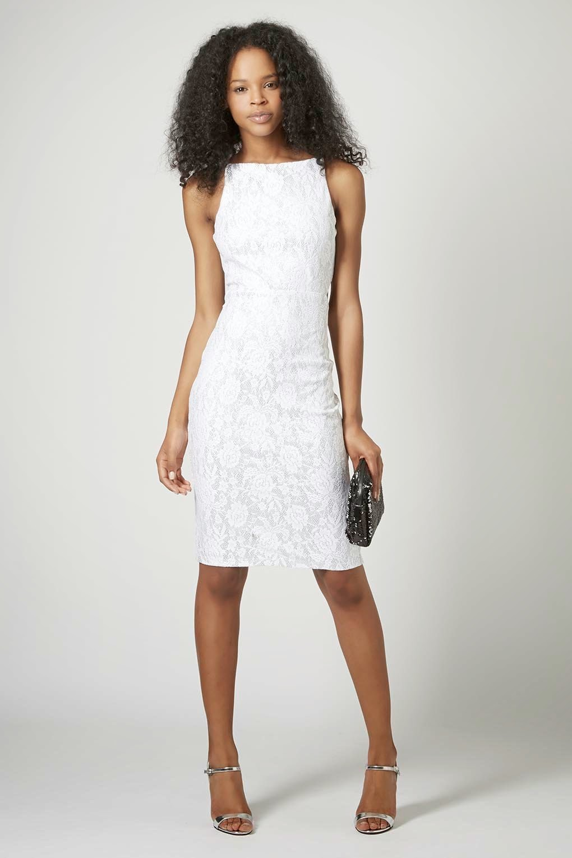 white lace topshop dress