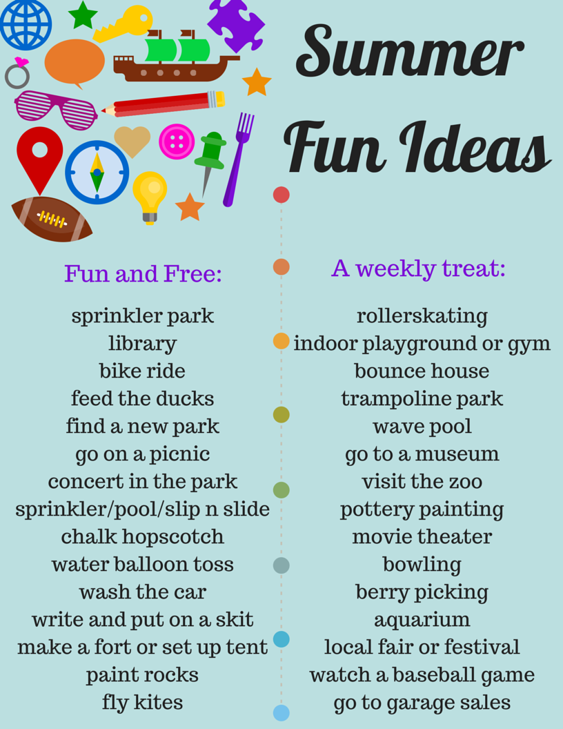 "Cheap Summer To Do List FREE ""Summer Fun Ideas"" Printable! List of Free and Cheap things to do with your kids this summer!"