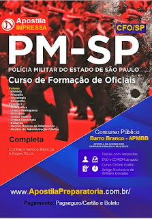 Apostila PMSP Aluno-Oficial CFO SP 2015.