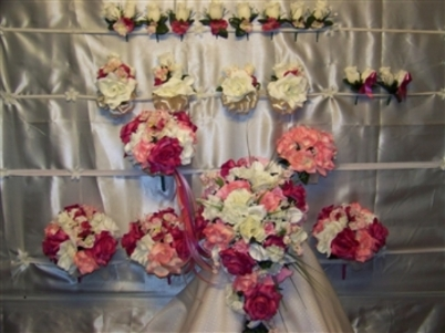 Home decor tips using silk wedding flowers pews can be decorated with silk flowers with a little usage of netted fabric pews decoration will look romantic with these flowers and add extra beauty to mightylinksfo