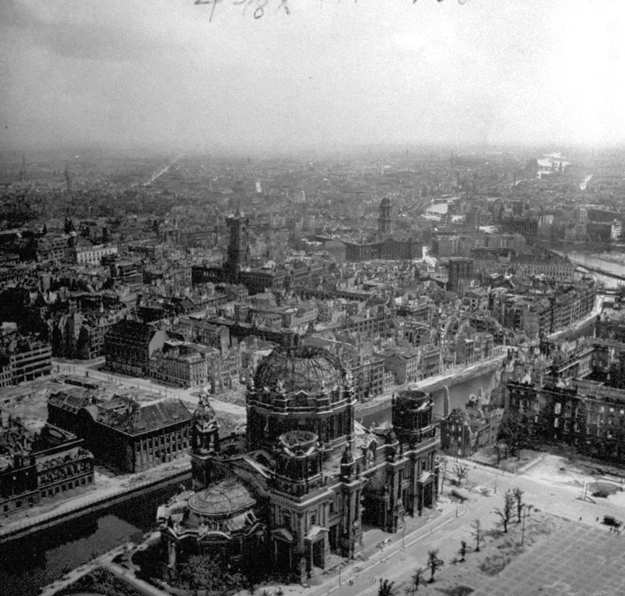 Statisticians calculated that for every inhabitant of Berlin there were nearly 30 cubic meters of rubble.