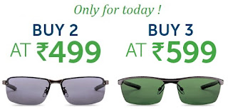 Polarized and 100% UV Protection Sunglasses: Two Parim Sunglasses for Rs.499 &  Three Parim Sunglasses for Rs.599 at Lenskart