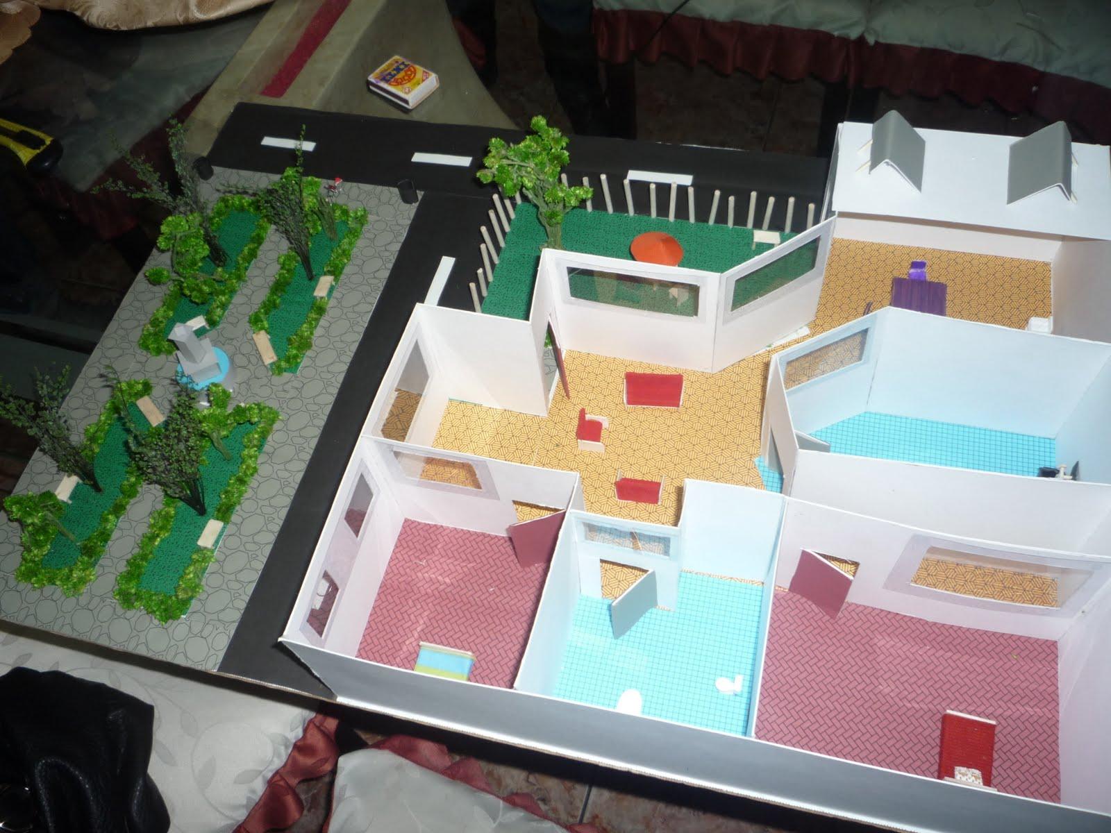 Maqueta De Una Casa Ecologica