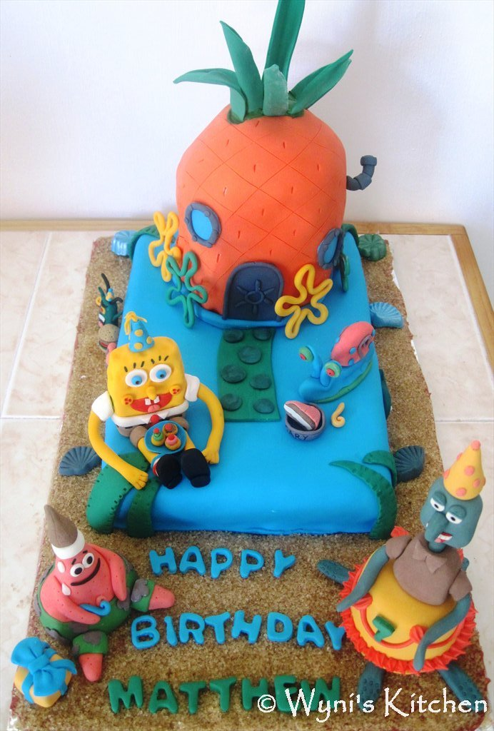 SpongeBob Birthday Cake MAKE EAT LOVE