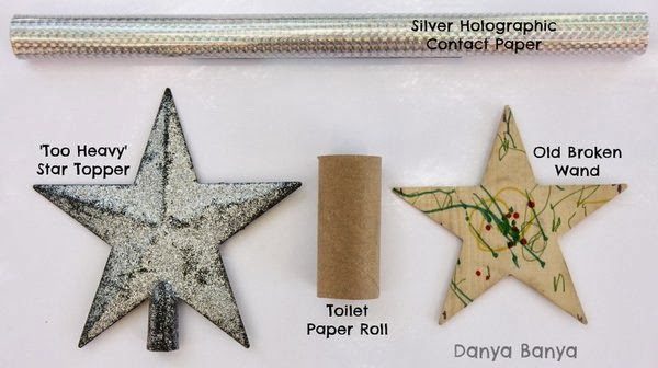 Old and materials for new Christmas Tree Star