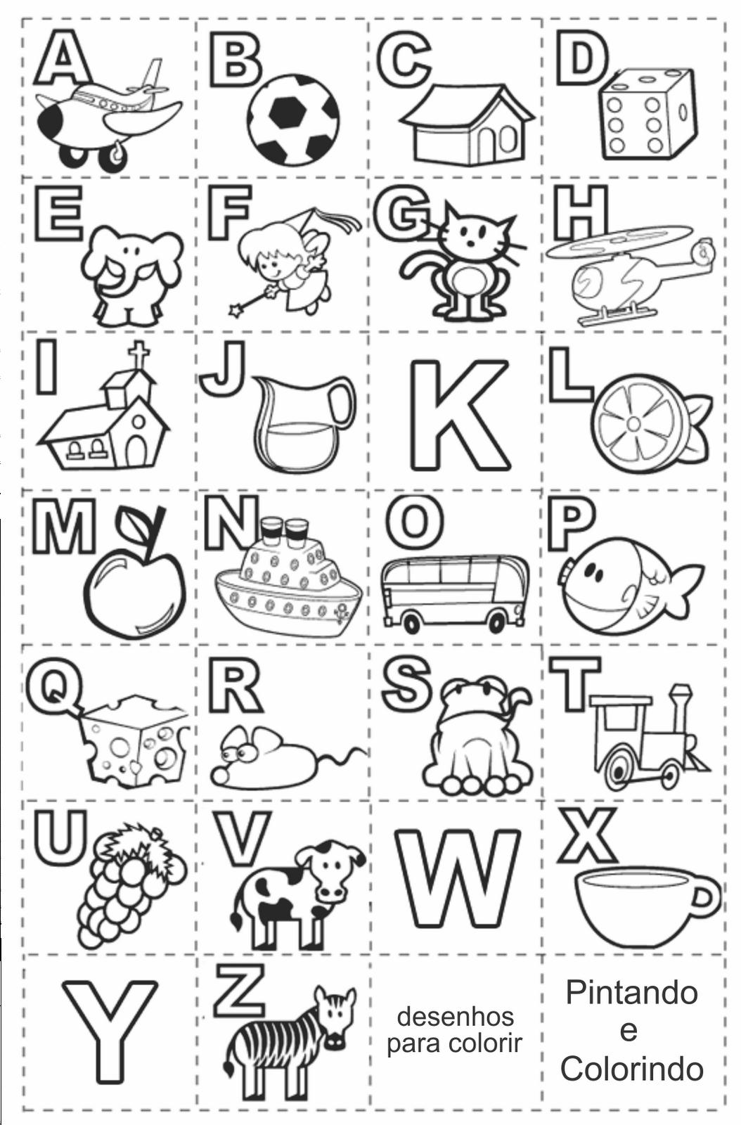 alfabeto ilustrado para alfabetização infantil alfabeto ilustrado ...