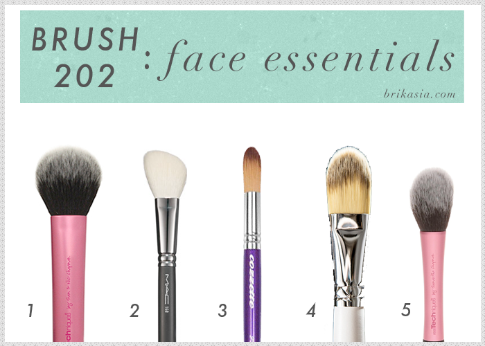 makeup brushes, blush brush, foundation brush, powder brush, concealer brush, Real Techniques Brushes, the best makeup brushes for the face, Cozzette Concealer Brush, MAC 168 Contour Brush, OCC Foundation Brush, Real Techniques Multi Task Brush
