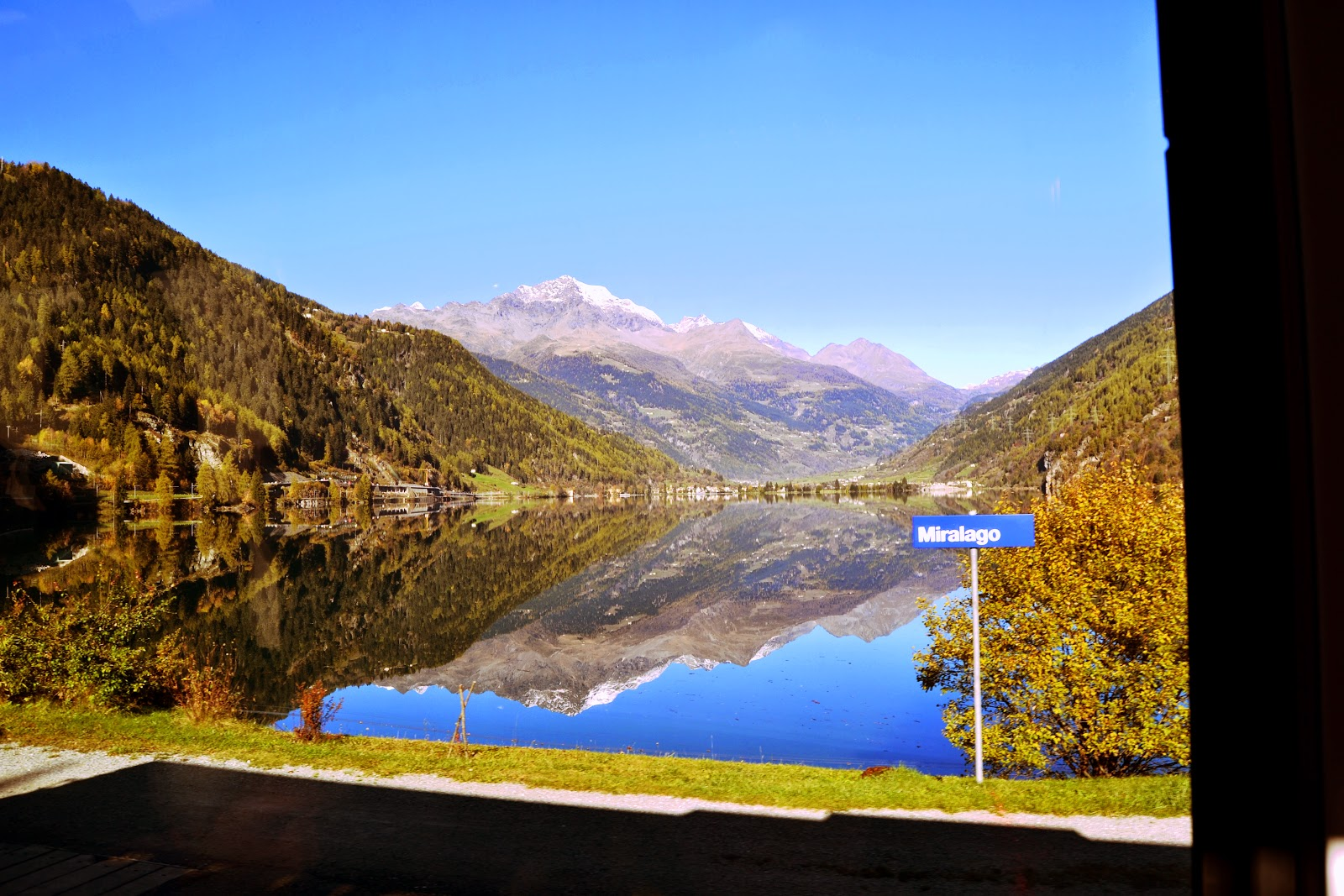 Picture perfect scene of Lake Miralago near St.Moritz