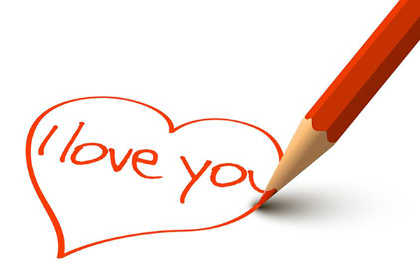 Writing I love you