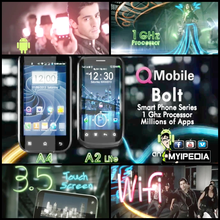 Qmobile Bolt series A2 A4 lite 2013