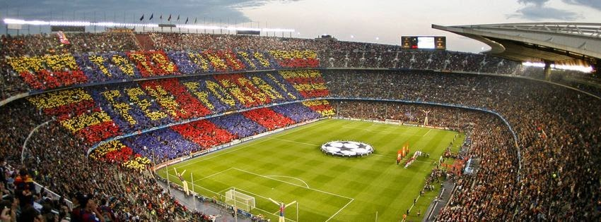 Couverture facebook hd stade barcelone
