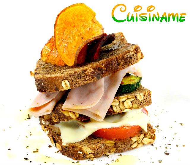 sandwich, sandwich gourmet, recetas light, recetas originales, pavo, calabacín, pan alemán, cocina creativa