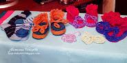 Вязаные пинетки и носки