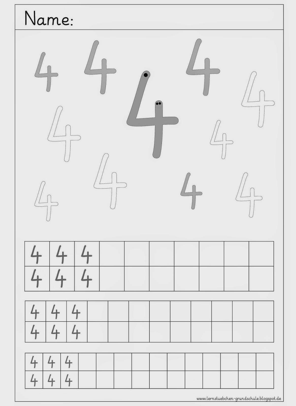 Lernstu00fcbchen: Ziffernschreibkurs 4 bis 6