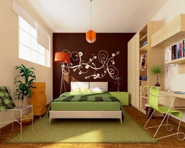 paint ideas for bedroom feature wall