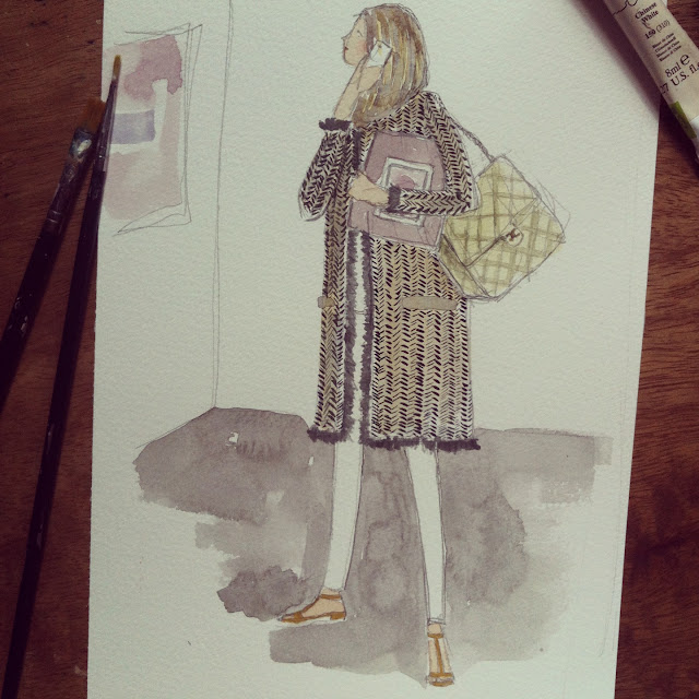 Art Basel HK Streetstyle Watercolour Sketch