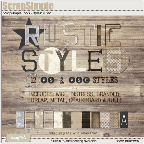 Rustic Photoshop Styles