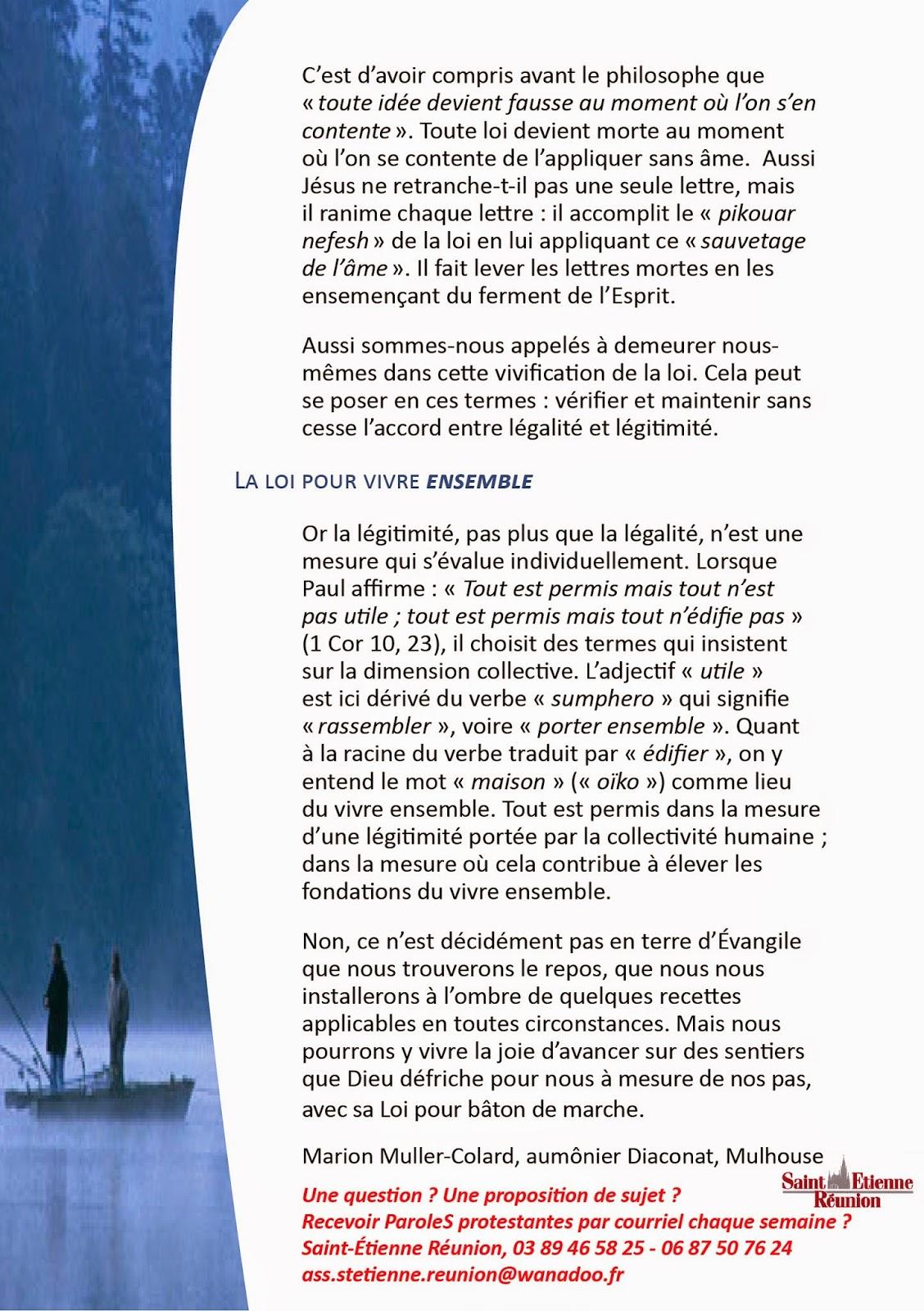 Saint tienne r union paroles protestantes 8c l galit for Chambre 13 parole