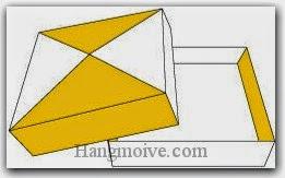 Bước 11: Hoàn thành cách xếp hộp giấy vuông, mỏng, dẹt bằng giấy theo phong cách origami.