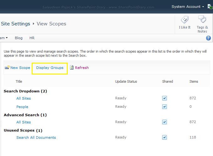 Edit Search Dropdown Scopes