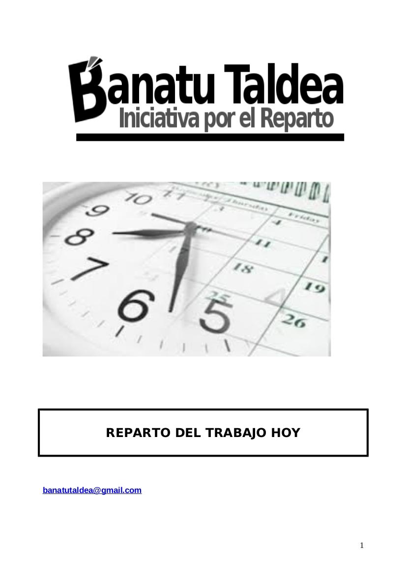 REPARTO DE EMPLEO EN LA ADMINISTRACIÓN. 30 HORAS BASTAN