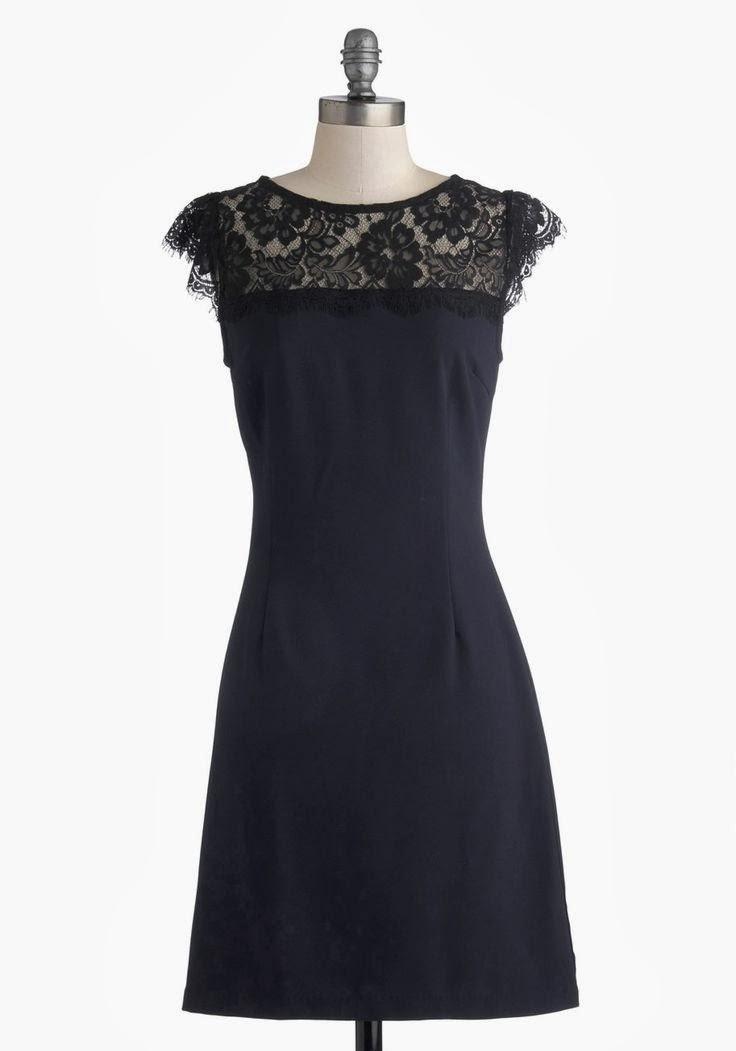 Modcloth dress, modcloth.com, Masterful Maestro Dress, navy sheath dress, black lace details, semi-formal attire