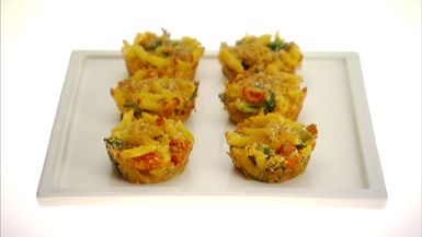 ... & Fab Findings: Baked Macaroni and Cheese Cupcakes Recipe from Giada