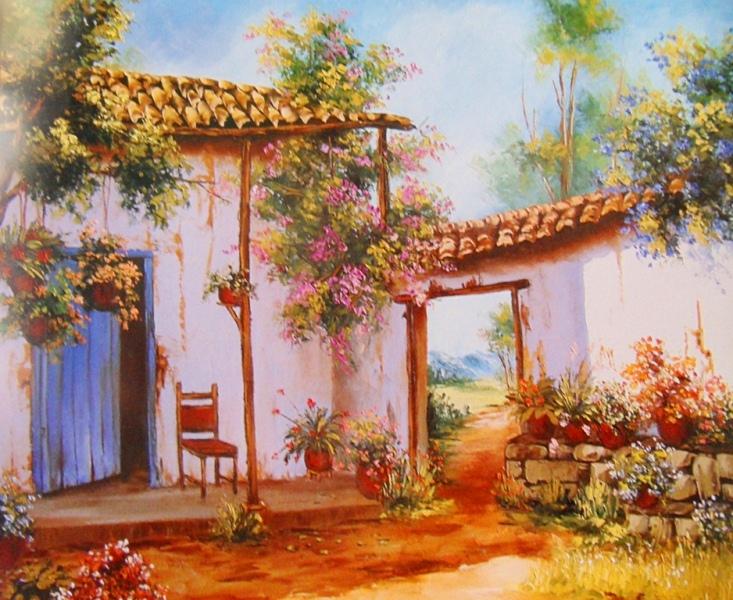 Im genes arte pinturas paisajes de campo al leo - Cuadros para pintar en casa ...