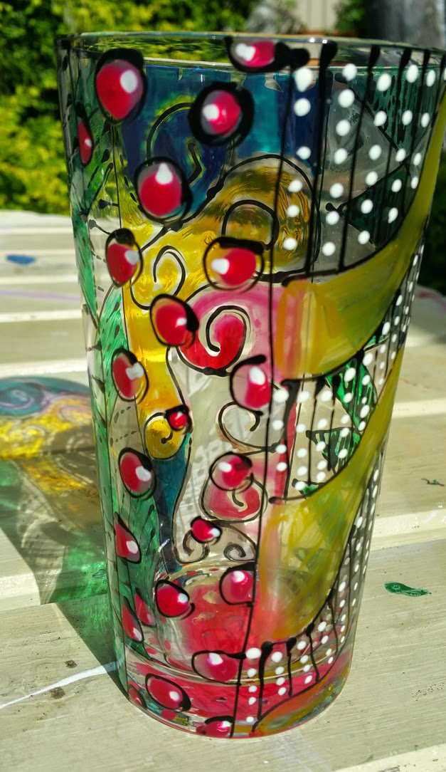 crafty crusaders using pebeo vitrea 160 glass paints on