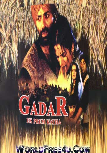Poster Of Hindi Movie Gadar Ek Prem Katha (2001) Free Download Full New Hindi Movie Watch Online At worldfree4u.com