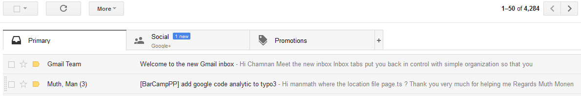 Welcome to the new Gmail inbox