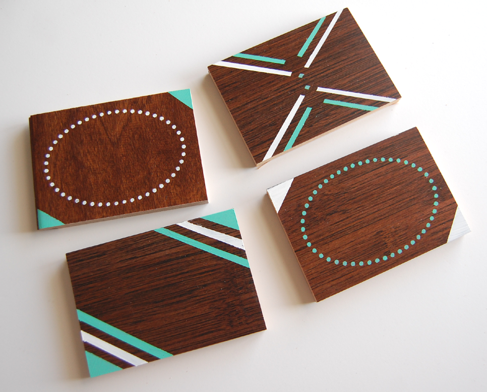 Diy wood coaster set wild amor for Homemade coaster ideas