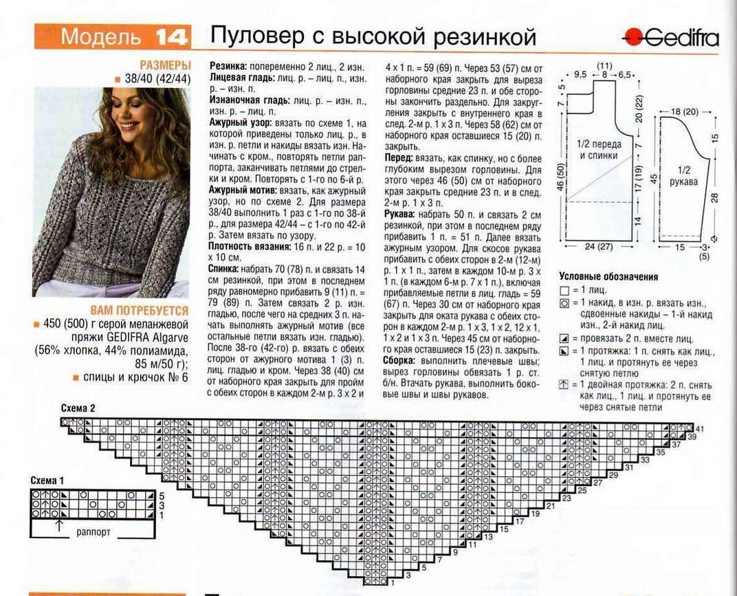 Вязание спицами схемы и модели свитеров для