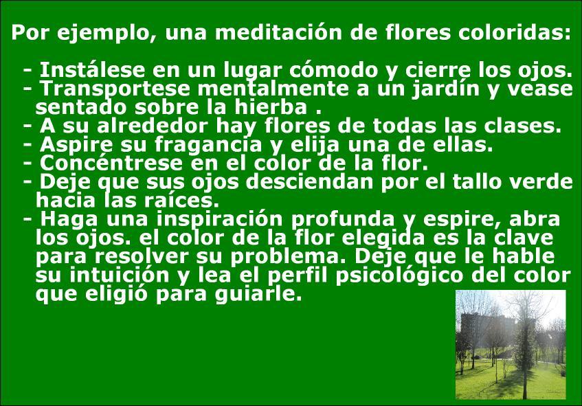 Crianzaypsicomotricidad cromoterapia c mo nos influyen - Hacer meditacion en casa ...