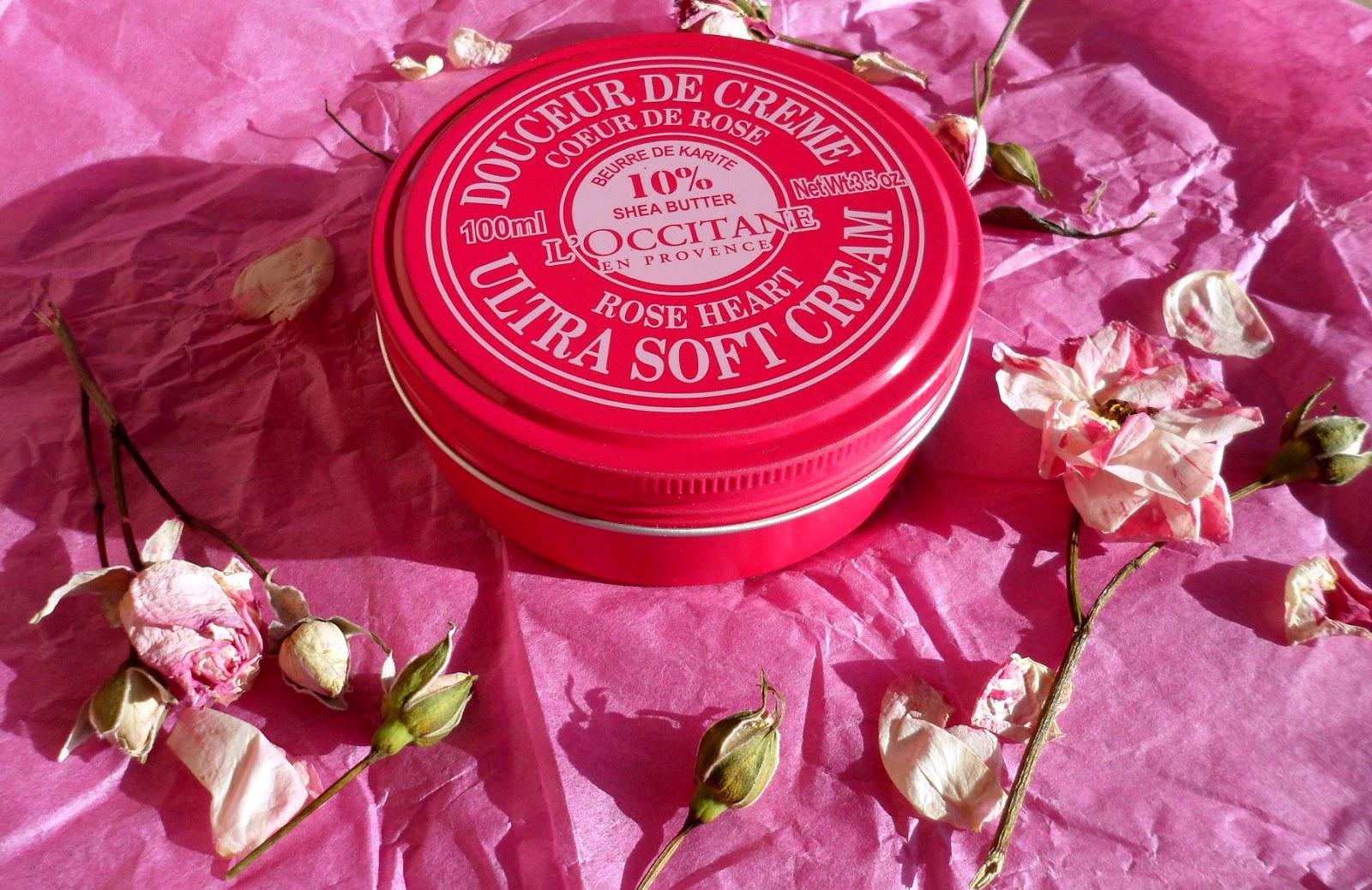 Occitane ultra soft cream rose heart review локситан