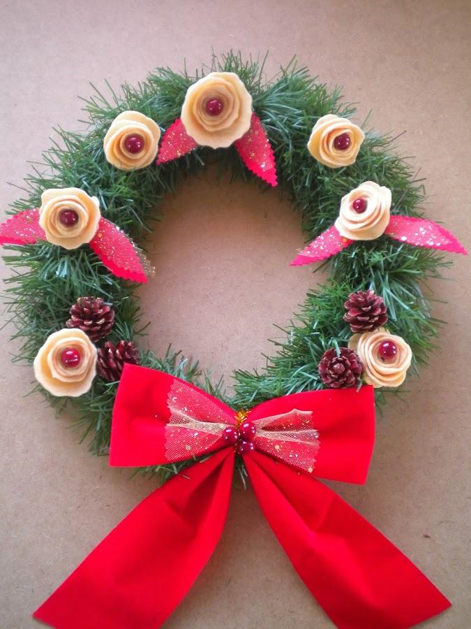 Coronas de navidad para casa manualidades - Coronas navidenas faciles ...