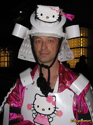 Hello Kitty superhero samurai costume