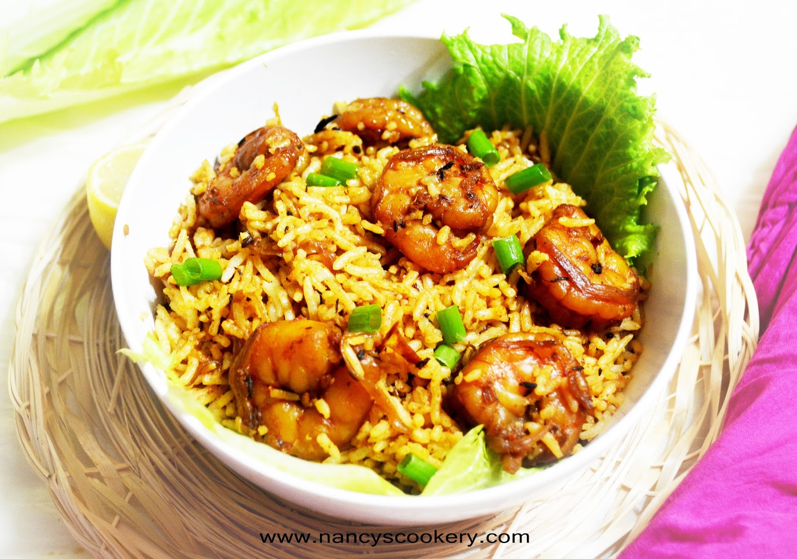 Shrimp/Prawn Rice Recipe | Nancy's Cookery