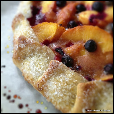 The Dutch Baker's Daughter: Easy Peach and Blueberry Galette