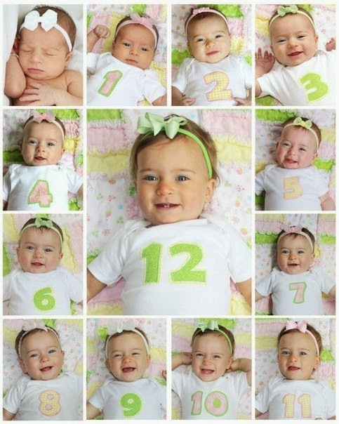 Creative Baby Photo Idea From 0 to One Year