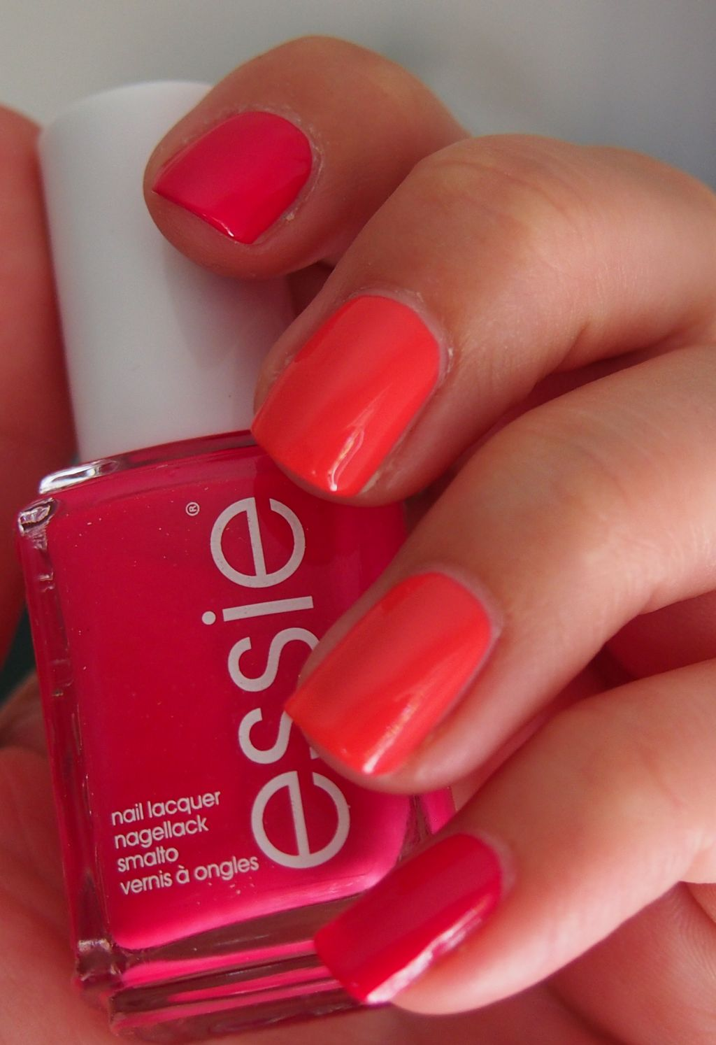 Did someone say nail polish?: Essie Watermelon and Cute as a button ...