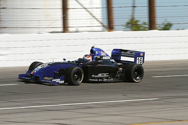 Lloyd Read in the Almost Everything Formula Car in Star Mazda Championship Road to Indy