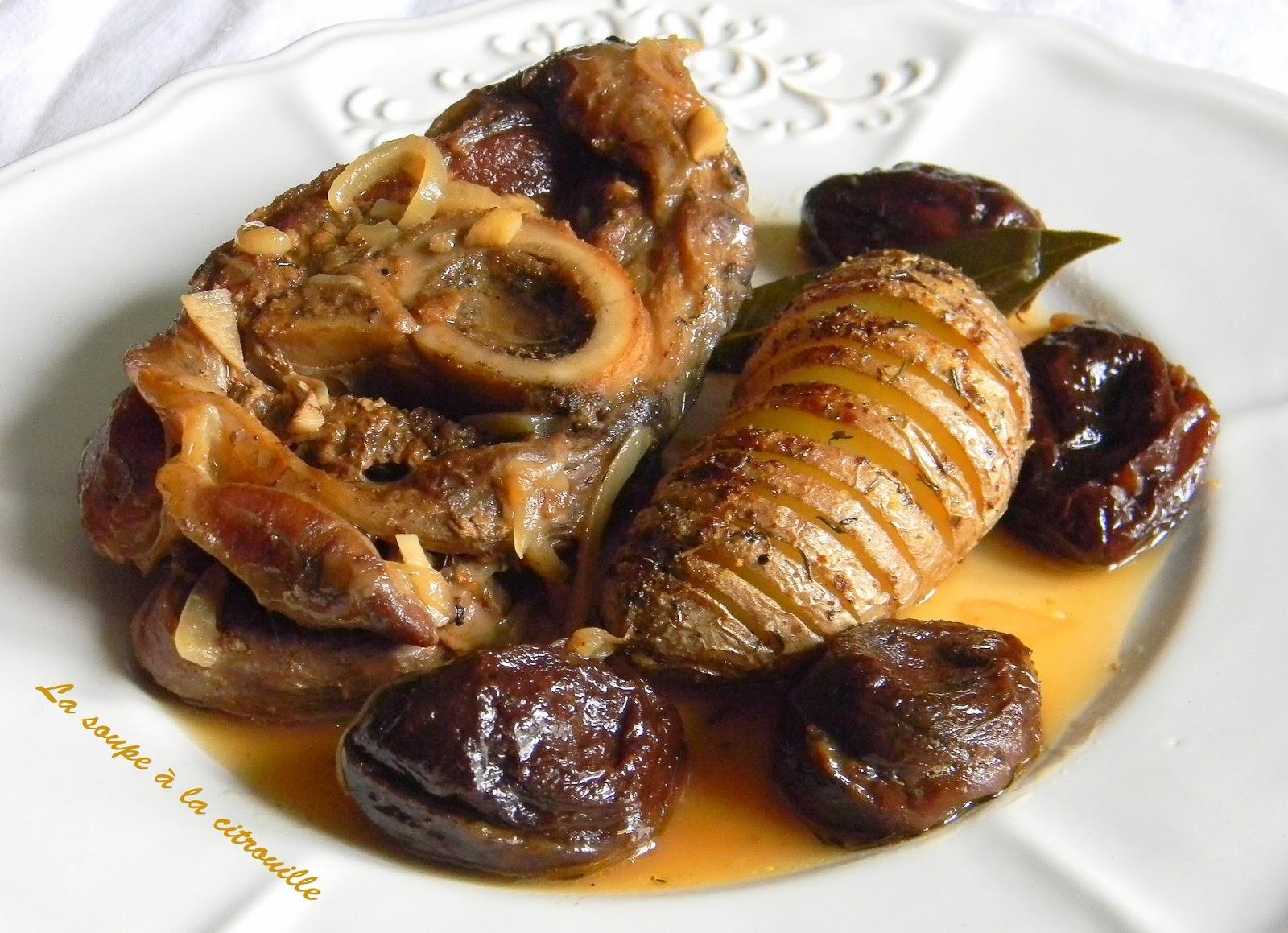 La soupe la citrouille jarret de veau brais au cidre - Cuisiner jarret de veau ...