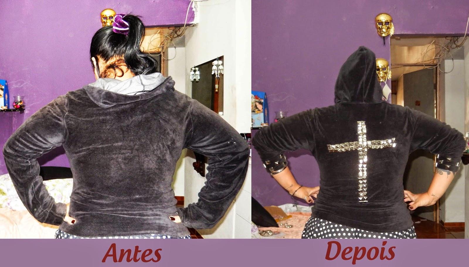 estilizando um casaco para rock, gotico e outros