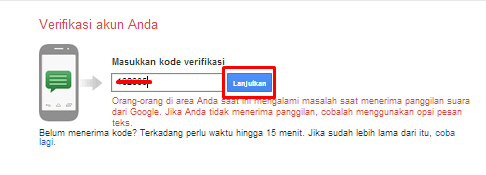 verifikasi email via telepon hp